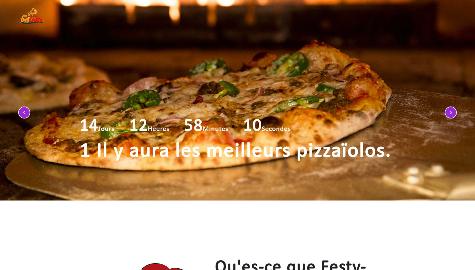 Festi-Pizza's website